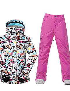 billiga Skid- och snowboardkläder-GSOU SNOW Dam Skidjacka och -byxor Vattentät, Håller värmen, Vindtät Skidåkning / Vintersport Polyester Klädesset Skidkläder