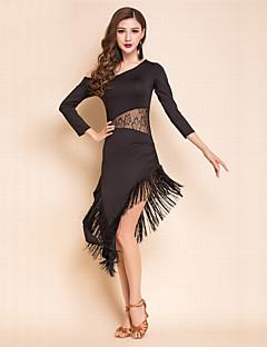 Недорогие -Мы будем латинскими платьями платья женщин спандекс кружева 3/4 длина рукава платье