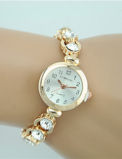 Women's Fashion Watch Bracelet Watch Quartz Rhinestone Imitation Diamond Alloy Band Charm Casual Elegant Gold