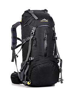 billiga Ryggsäckar och väskor-45L ryggsäck - Vattentät, Regnsäker, Fuktighetsskyddad Camping, Jakt, Klättring Nät, Nylon, Vattentätt Material Rubinrött, Purpur, Mörk
