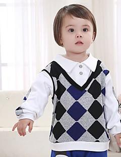 男の子 お出かけ カジュアル/普段着 パッチワーク コットン シャツ 春 秋 長袖 レギュラー