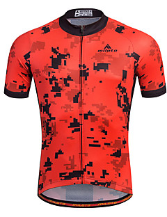cheap Cycling Jerseys-Miloto Men's Short Sleeve Cycling Jersey Bike Jersey, Quick Dry, Breathable, Sweat-wicking