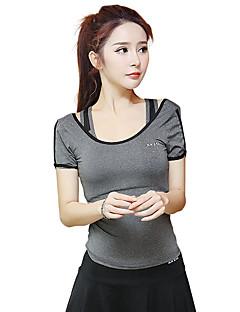billige Løbetøj-Dame Løbe-T-shirt Kortærmet Hurtigtørrende, Åndbart, Svedreducerende Toppe for Yoga / Træning & Fitness / Løb Modal, Polyester Mørkegrå /