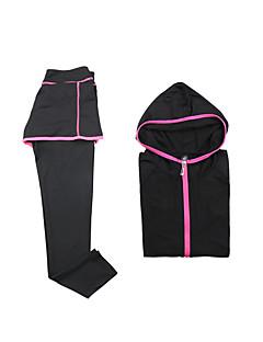 billige Løbetøj-Dame Træningsdragt Sport Hattetrøje / Bukser / Toppe - Langærmet Yoga, Fiskeri, Træning & Fitness Hurtigtørrende, Åndbart Høj Elasticitet