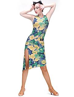 ラテンダンス ワンピース 女性用 訓練 モーダル プロミックス 1個 ノースリーブ ドレス