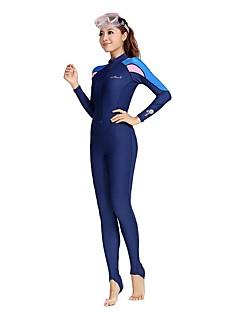 Bluedive 女性用 ダイブスキンスーツ 速乾性 抗紫外線 フロントファスナー YKKジッパー サンスクリーン ナイロン スイムウェア 日焼け防止ウェア ダイビングスーツ トップス ヨガ 水泳 潜水 ビーチ サーフィン シュノーケリング