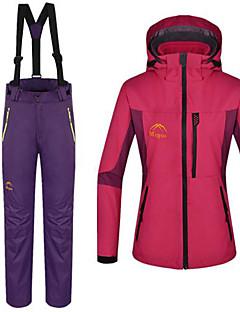 女性用 3-in-1 ジャケット 防水 保温 3-in-1 ジャケット フリースジャケット / フリース 冬物ジャケット 洋服セット トップス のために 冬 S M L XL XXL