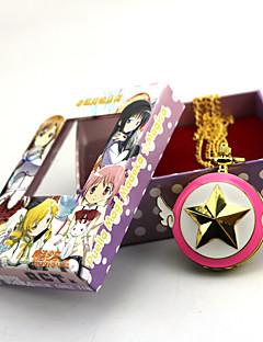 billige Anime cosplay-Klokker Inspirert av Puella Magi Madoka Magica Zen Anime Cosplay-tilbehør Klokker Legering Dame