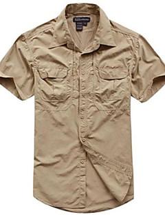 tanie Odzież myśliwska-Męskie Damskie Dla obu płci Krótki rękaw Koszula myśliwska Quick Dry kamuflaż T-shirt Topy na Łowiectwo Black Brown Army Green Light Brown