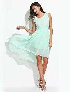 Χαμηλού Κόστους LightColorDresses-Γυναικεία Καθημερινό Swing Φόρεμα - Μονόχρωμο Ασύμμετρο / Καλοκαίρι