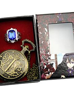 baratos Acessórios Cosplay Anime-Relógio Mais Acessórios Inspirado por Black Butler Ciel Phantomhive Anime Acessórios para Cosplay Relógio Anél Liga Homens