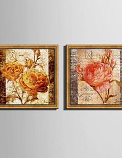 Çiçek/Botanik Çerçeveli Tuval Çerçeve Seti Duvar Sanatı,PVC Malzeme Altın Keçesiz Frame ile For Ev dekorasyonu çerçeve Sanat