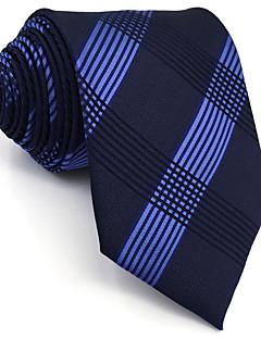 billige Redaksjonens valg-Herre Vintage Søtt Fest Kontor Fritid Slips,Alle årstider Geometrisk Rayon Navyblå
