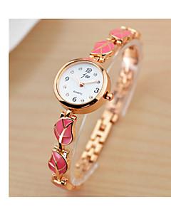 Women's Bracelet Watch Quartz Stainless Steel Band Black White Red Pink