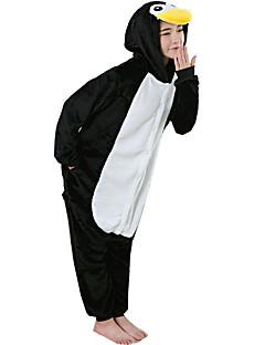 billige Kigurumi-Voksne Kigurumi-pysjamas Pingvin Onesie-pysjamas Flanell Fleece Svart / Hvit Cosplay Til Damer og Herrer Pysjamas med dyremotiv Tegnefilm Festival / høytid kostymer