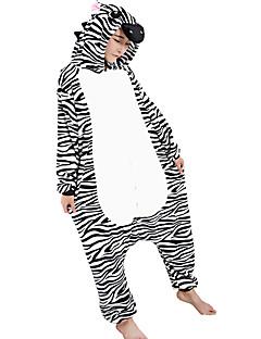 Kigurumi Pyjamas Sebra Kostume Svart hvit Cosplay Parykker Halloween Utstyr Kigurumi Trikot / Heldraktskostymer Cosplay Festival / høytid