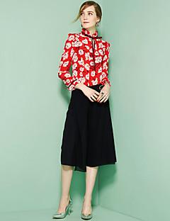 hesapli OULIE-Kadın's V Yaka Çiçekli Gömlek