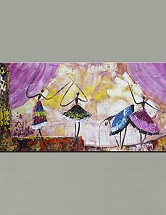 baratos Retratos Abstratos-Pintura a Óleo Pintados à mão - Abstrato / Retratos Abstratos Modern / Estilo Europeu Incluir moldura interna