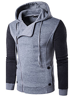 Casual/Daily Simple Hoodie Solid Round Neck Micro-elastic Cotton Long Sleeve Spring