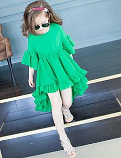 Mädchen Kleid Druck Polyester Sommer ¾ Ärmel