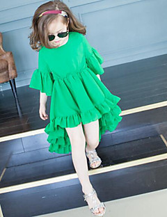 Girl's Print Dress,Polyester Summer ¾ Sleeve