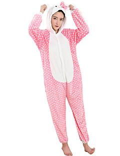 billige Kigurumi-Voksne Kigurumi-pysjamas Kat Onesie-pysjamas Kostume Flanell Fleece Cosplay Til Pysjamas med dyremotiv Tegnefilm Halloween Festival / høytid / Jul