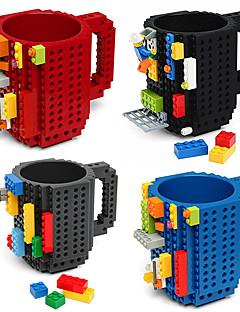 preiswerte Kaffeetassen-drinkware bausteine tassen diy blockpuzzlespielbecher caneca aufbauen auf ziegelstein schalentasse kaffeetasse