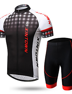 cheap Cycling Jersey & Shorts / Pants Sets-XINTOWN Men's Short Sleeves Cycling Jersey with Shorts - Black/White Black/Red 1# White+Gray Bike Clothing Suits, Quick Dry, Ultraviolet