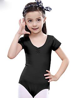 Ballett Trikoter Barne Trening Bomull 1 Deler Kort Erme Naturlig Trikot