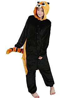 billige Kigurumi-Kigurumi-pysjamas Vaskebjørn Onesie-pysjamas Kostume Flanell Fleece Svart Cosplay Til Pysjamas med dyremotiv Tegnefilm Halloween Festival
