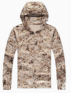 Camouflage Hunting Jacket Waterproof Quick Dry Windproof Ultraviolet Resistant Breathable Lightweight Materials Comfortable Sunscreen