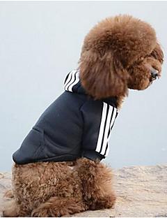 Cachorro Moletom Camisola com Capuz Roupas para Cães Casual Esportes Sólido Preto Amarelo Vermelho Azul Rosa claro