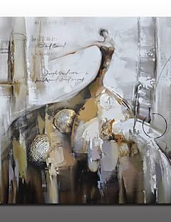 baratos Retratos Abstratos-Pintura a Óleo Pintados à mão - Pessoas Modern Estilo Europeu Incluir moldura interna