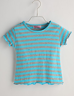 Baby Casual/Daily Striped Tee-Cotton-Summer-Blue