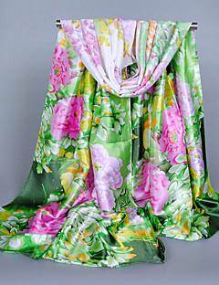 Naiset Sievä Vapaa-aika Neliskulmainen,Painettu Kevät Kesä Syksy Silkki Polyesteri