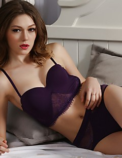 YUIYE® Demi-cup Bras & Panties Sets Double Strap Adjustable Push-up Underwire Bra Fixed Straps Cotton Lace Modal