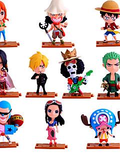 billige Anime cosplay-Anime Action Figurer Inspirert av One Piece Roronoa Zoro PVC 10 CM Modell Leker Dukke