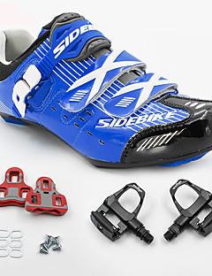 billiga Cykling-BOODUN® Unisex Cykelskor med pedaler och klossar / Sneakers / Skor för vägcykel Nylon och Karbonfiber Cykling / Cykel Stötdämpande Andningsbart Nät / PU Blå