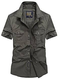 baratos Camisetas para Trilhas-Homens Camisa de Trilha Ao ar livre Secagem Rápida, Respirável Camiseta / Blusas Acampar e Caminhar / Pesca
