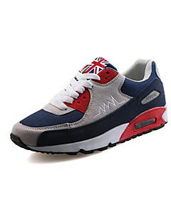 hesapli -Erkek Ayakkabı PU Bahar Sonbahar Rahat Atletik Ayakkabılar Yürüyüş Atletik Günlük Dış mekan için Bağcıklı Siyah Siyah/Beyaz Beyaz/Mavi