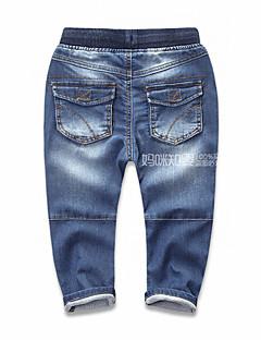 Para Meninos Calças Casual Cor Única Primavera Outono
