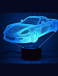 baratos Luzes de presente-1 Pça. Luz noturna 3D Cores Múltiplas USB Sensor Regulável Impermeável Cores Variáveis