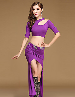 Shall We Belly Dance Outfits Women Training Modal Split Front Top Skirt