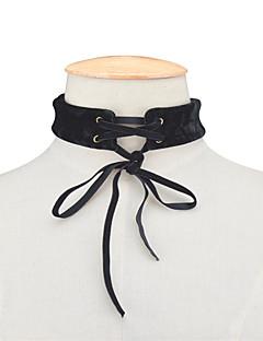 Kadın's Gerdanlıklar Mücevher Bowknot Shape Kumaş Moda Kişiselleştirilmiş Euramerican Siyah Mor Mücevher Için Günlük 1pc