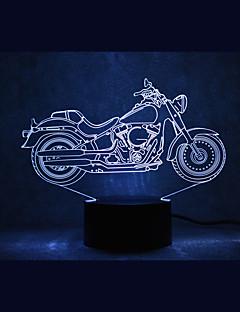 tanie Światła prezentów-1 szt. 3D Nightlight USB Wodoodporne / Czujnik / Przygaszanie DOPROWADZIŁO / Nowoczesny / współczesny