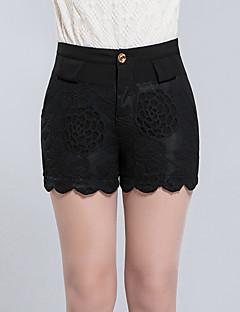 Damă Zvelt Sweet Style Talie Inaltă Pantaloni Scurți Pantaloni Jacquard Solid
