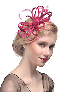 Women's Rhinestone Hair Clip,Hat Solid Color Mesh All Seasons