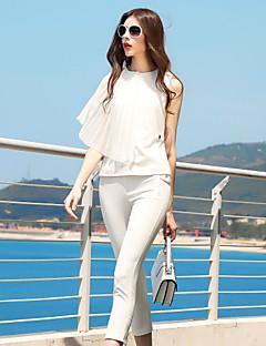 Χαμηλού Κόστους BLUEOXY-Γυναικεία Δουλειά Μπλούζα - Μονόχρωμο Παντελόνι