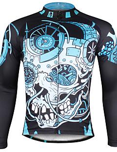 ILPALADINO חולצת ג'רסי לרכיבה בגדי ריקוד גברים שרוול ארוך אופניים ג'רזי צמרות ייבוש מהיר עמיד אולטרה סגול נושם דחיסה חומרים קלים רצועות