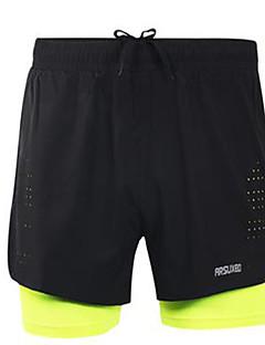 Homens Shorts de Corrida Secagem Rápida Respirável para Correr Exercício e Atividade Física Poliéster Grade Solto Preto Verde M L XL XXL